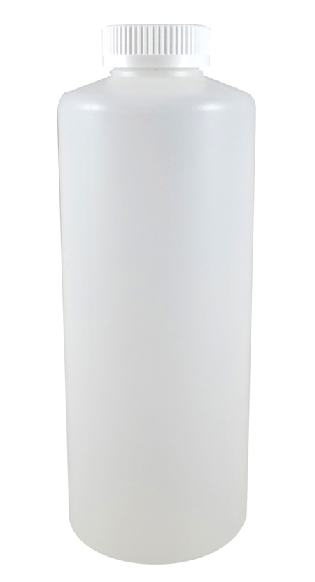 Quart Natural Cylindrical Jug (HDPE-52g) With 38/400 White Child Resistant Cap