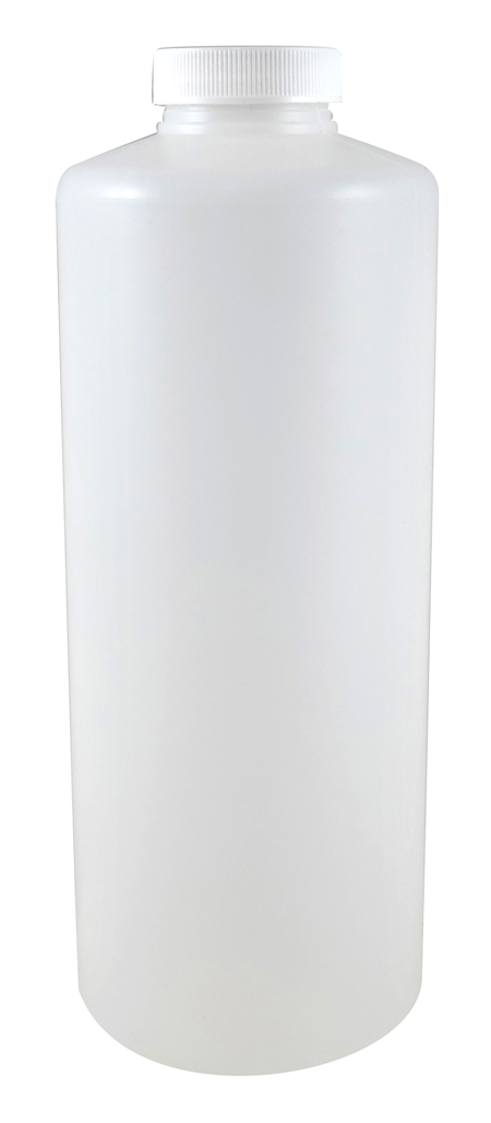 Quart Natural Cylindrical Jug (HDPE-52g) With 38/400 White Heat Induction Cap