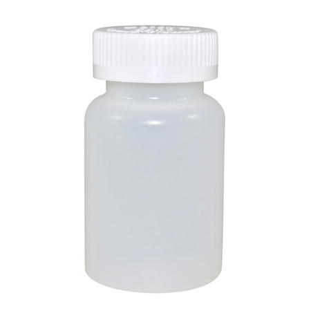 4oz Natural Cylindrical Jug (HDPE-13g) With 38/400 White Child Resistant Cap
