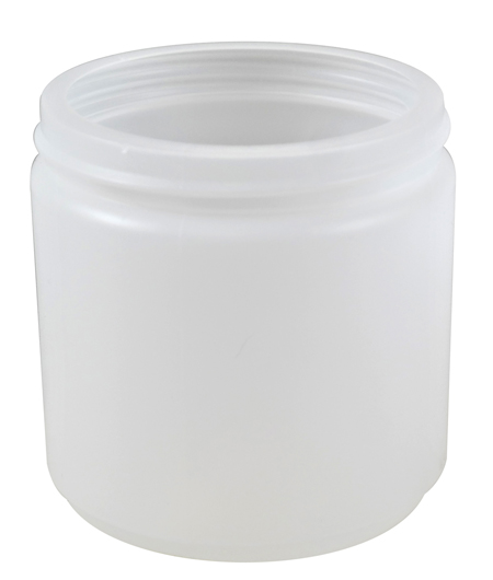 16oz Natural Cylindrical Jar (HDPE-30g) 89/400