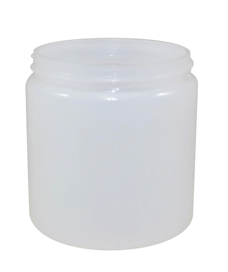 8oz Natural Cylindrical Jar (HDPE-26g) 70/400