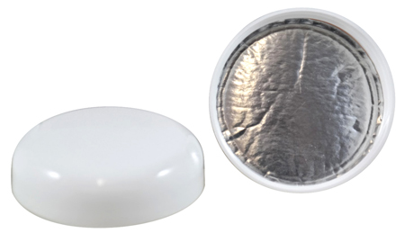 White Dome Heat Induction Cap 58/400