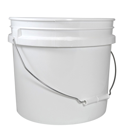 3.5 Gallon White Open Head Pail