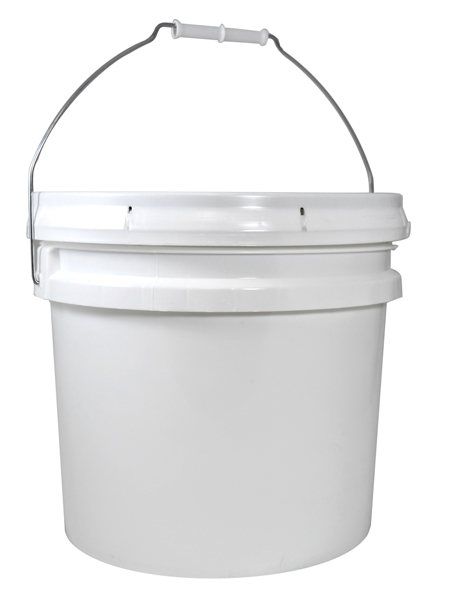 3.5 Gallon White Open Head Pail With Lid