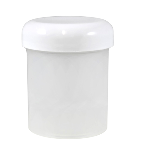 4oz Natural Cylindrical Jar (P/P-13g) With White Dome Heat Induction Cap