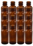 16 Pack 1oz Amber Boston Round (Glass) Bottles 20/400<br /><br /> <table cellspacing=