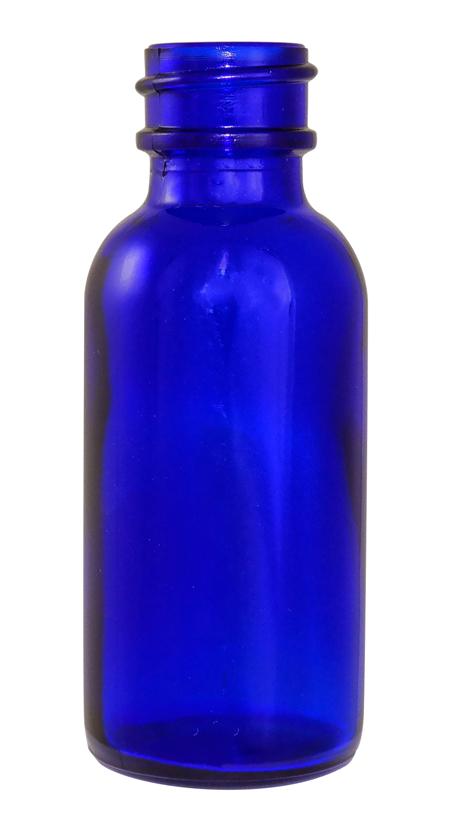 1oz Cobalt Boston Round (Glass) 20/400