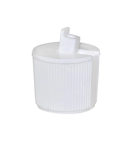 White Flip Top Cap 24/410