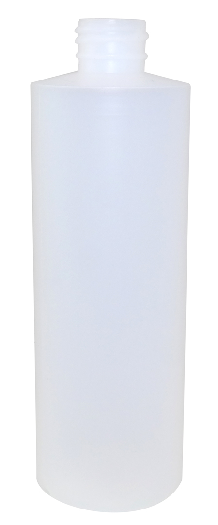 8oz Natural Cylindrical Bottle (HDPE-20g) 24/410