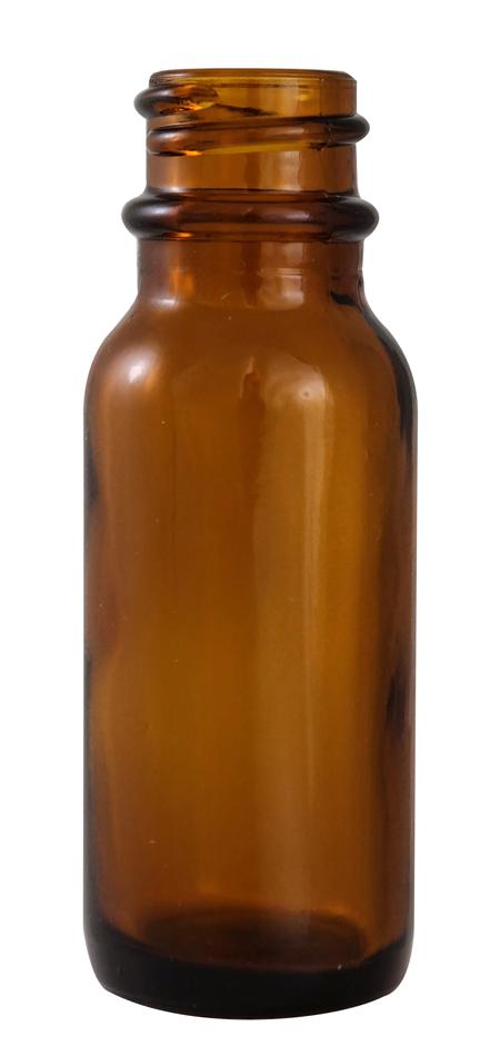 1/2oz Amber Boston Round (Glass) 18/400
