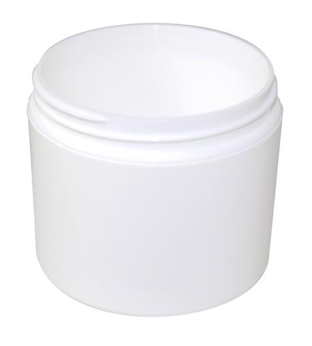 4oz White Double Wall Jar 70/400
