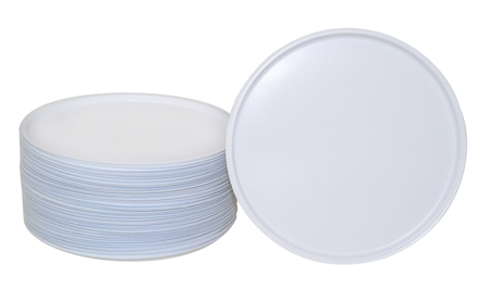 50 Pack White Vinyl Disc For 89mm Cap Fits 8oz Double Wall Jar