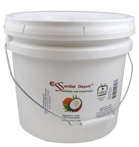 Coconut Oil - Finest Quality - 25 lb - In Pail - approx. 3.25 Gallons