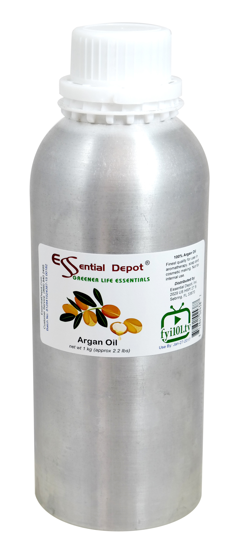 Argan Oil - 1 kg. - Approx 2.2 lbs. - FREE US SHIPPING