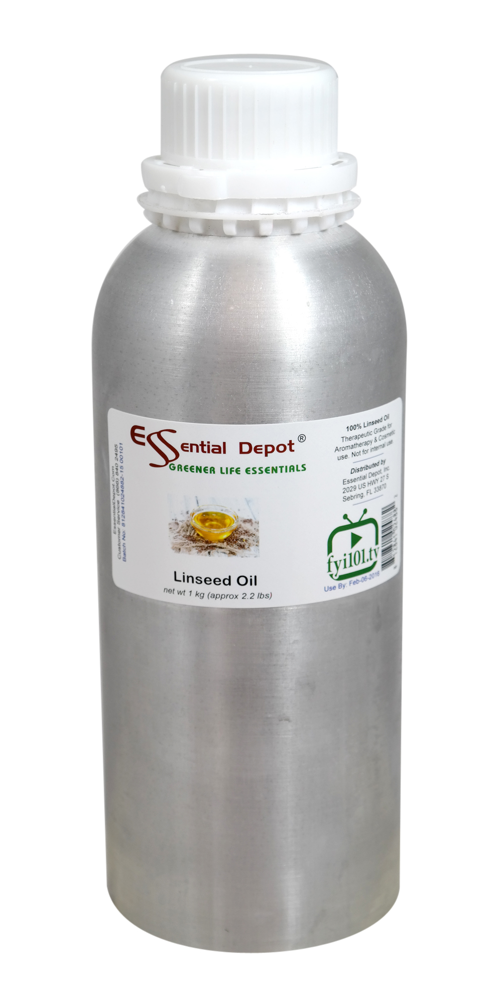 Linseed Oil - 1 kg. - Approx 2.2 lbs. - FREE US SHIPPING