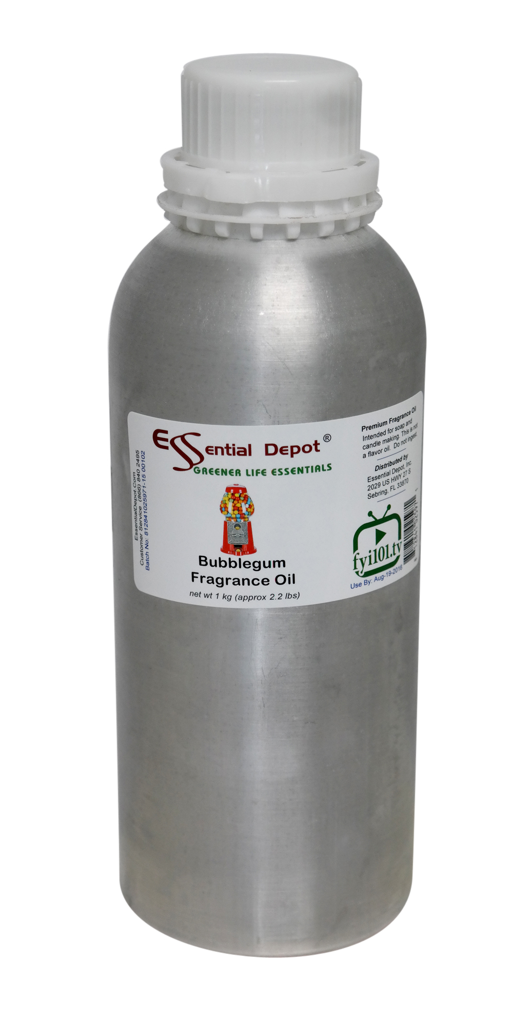 Bubblegum Fragrance Oil - 1 kg. - Approx 2.2 lbs. - FREE US SHIPPING