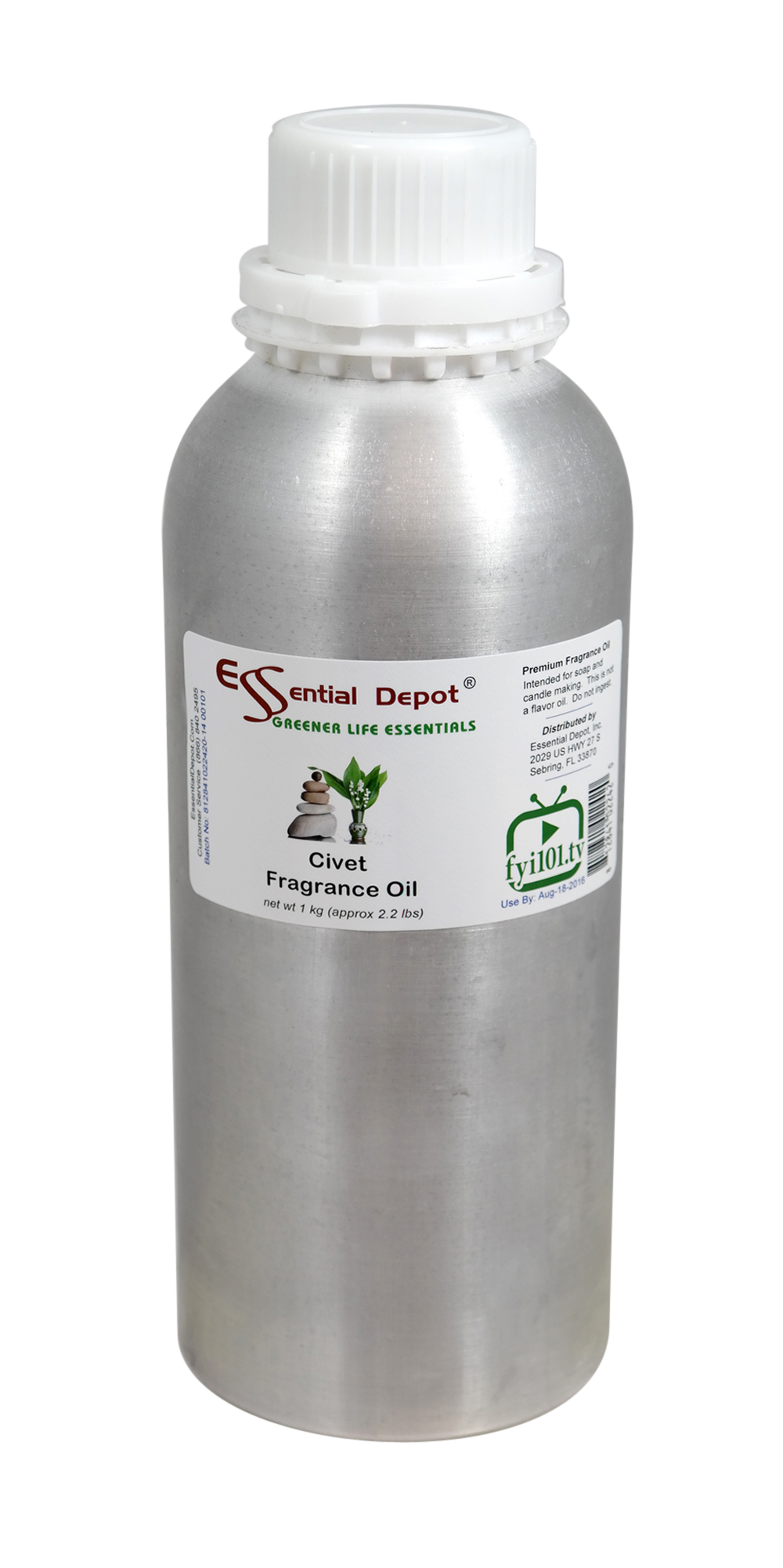 Civet Fragrance Oil - 1 kg. - Approx 2.2 lbs. - FREE US SHIPPING