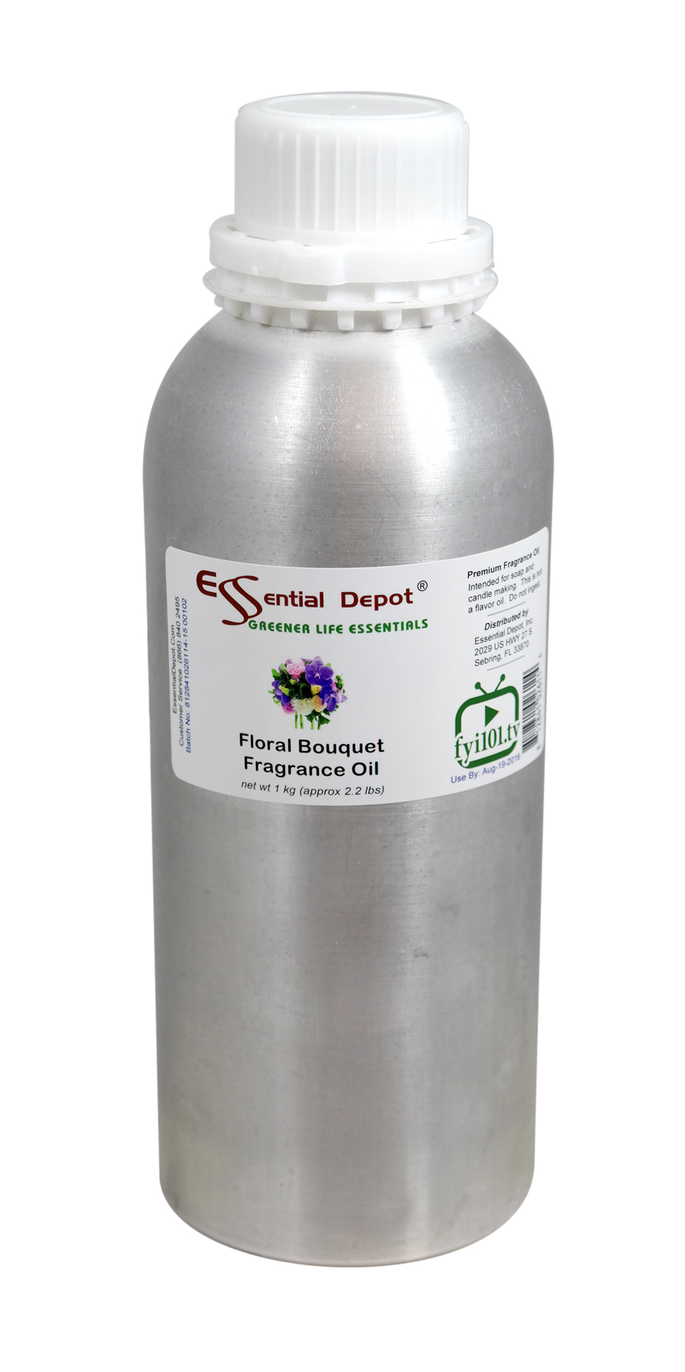 Floral Bouquet Fragrance Oil - 1 kg. - Approx 2.2 lbs. - FREE US SHIPPING