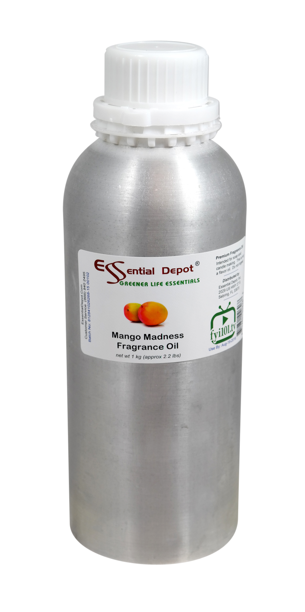 Mango Madness Fragrance Oil - 1 kg. - Approx 2.2 lbs. - FREE US SHIPPING
