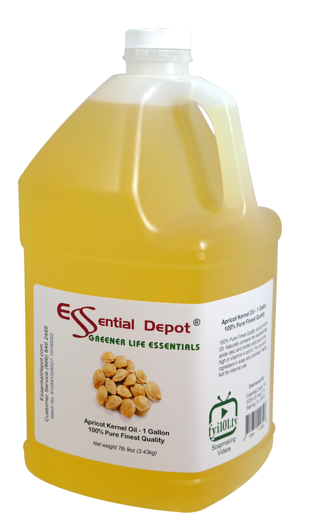 Apricot Kernel Oil - 1 Gallon