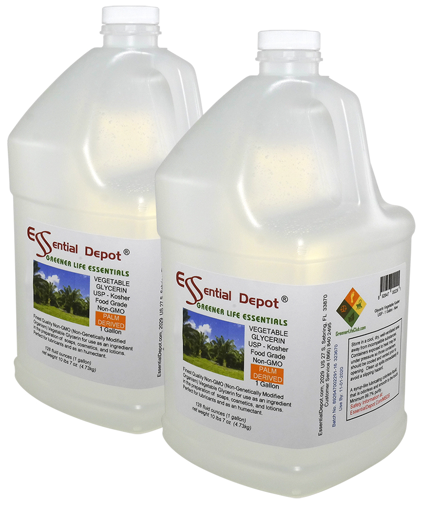 Glycerin Vegetable - KOSHER - USP - 2 x 1 Gallon Containers - FREE US  SHIPPING