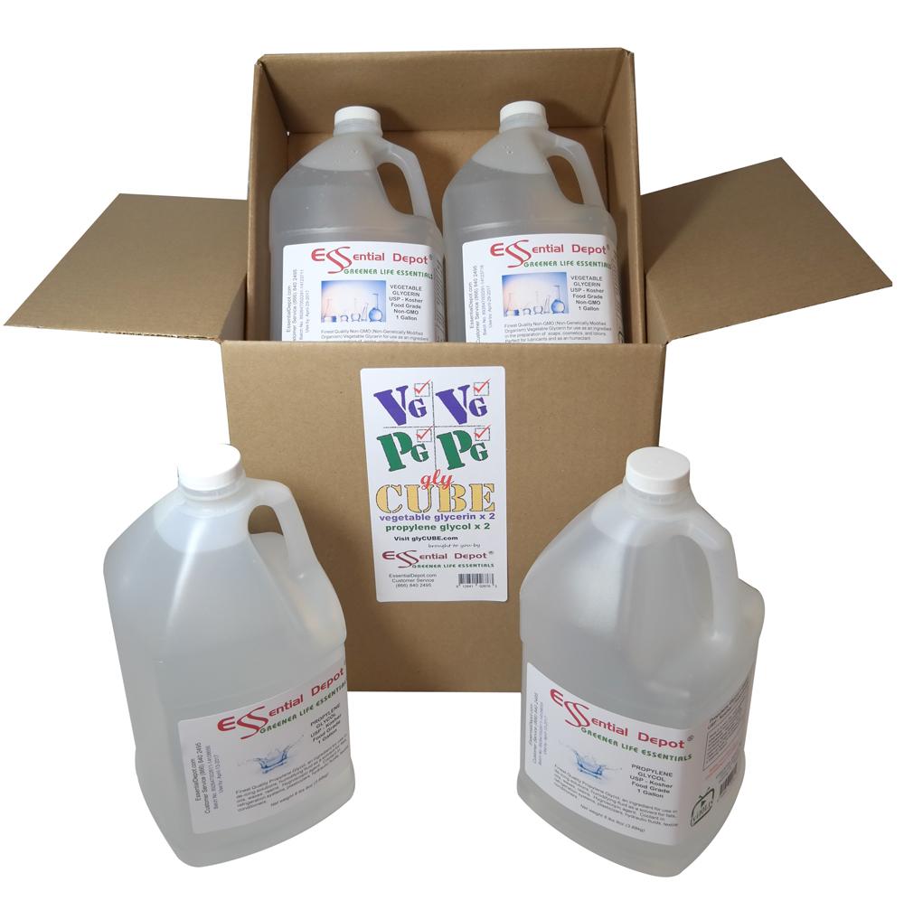 glyCUBE - 2 Gallons Propylene Glycol & 2 Gallons Vegetable Glycerin.