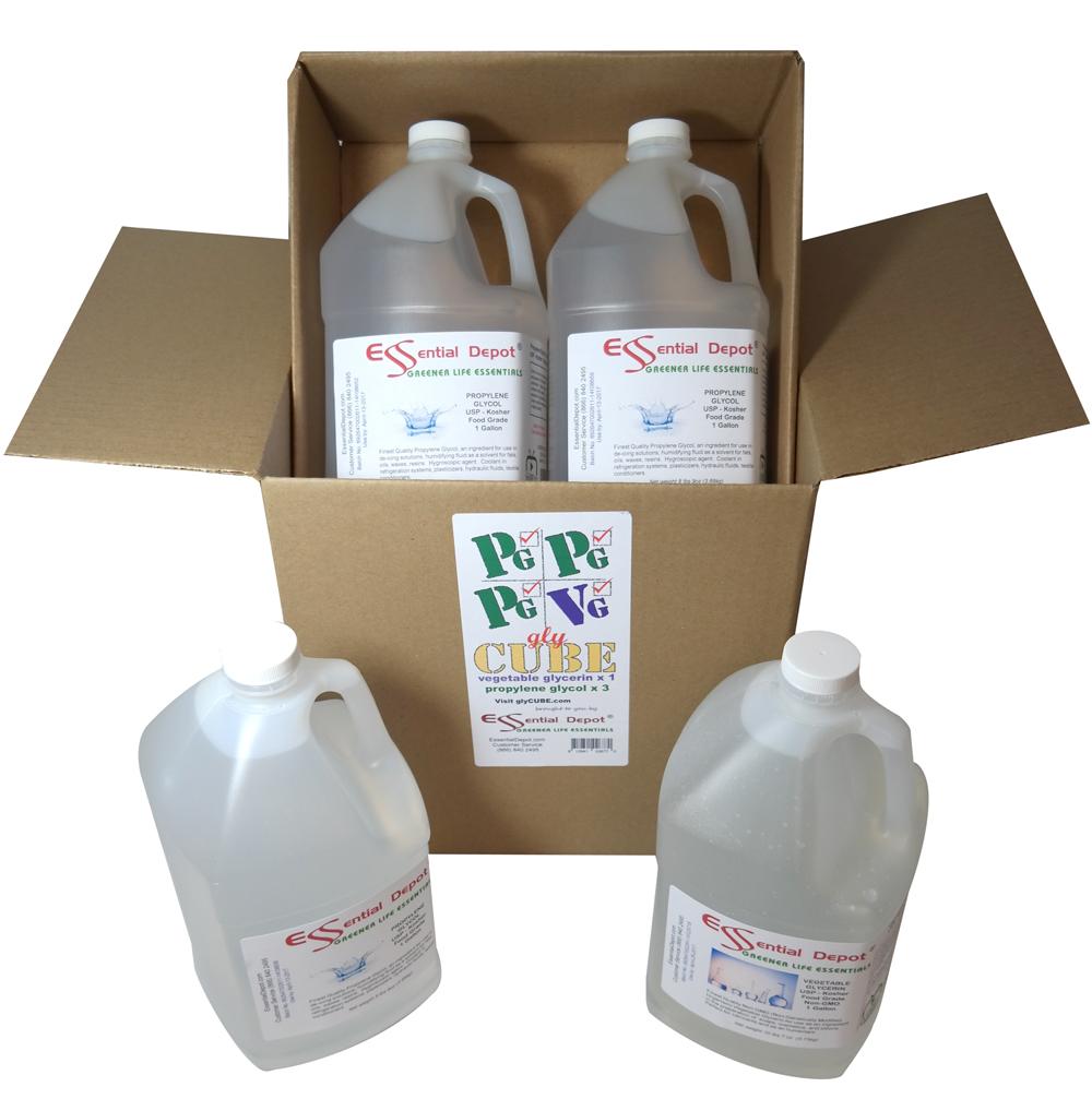 glyCUBE - 3 Gallons Propylene Glycol & 1 Gallon Vegetable Glycerin.
