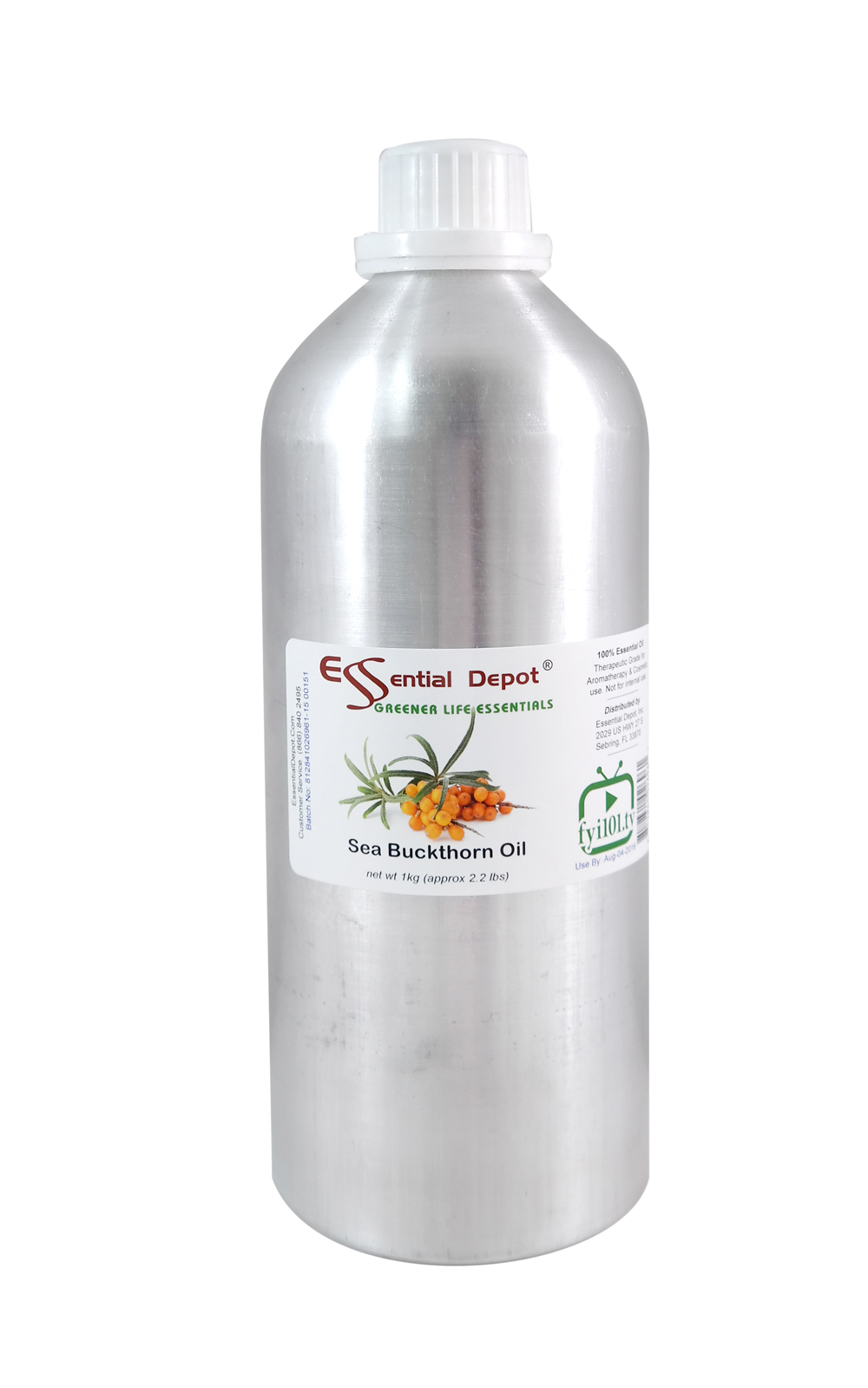 Sea Buckthorn Oil - 1 KG - Approx 2.2 lbs. - FREE US SHIPPING