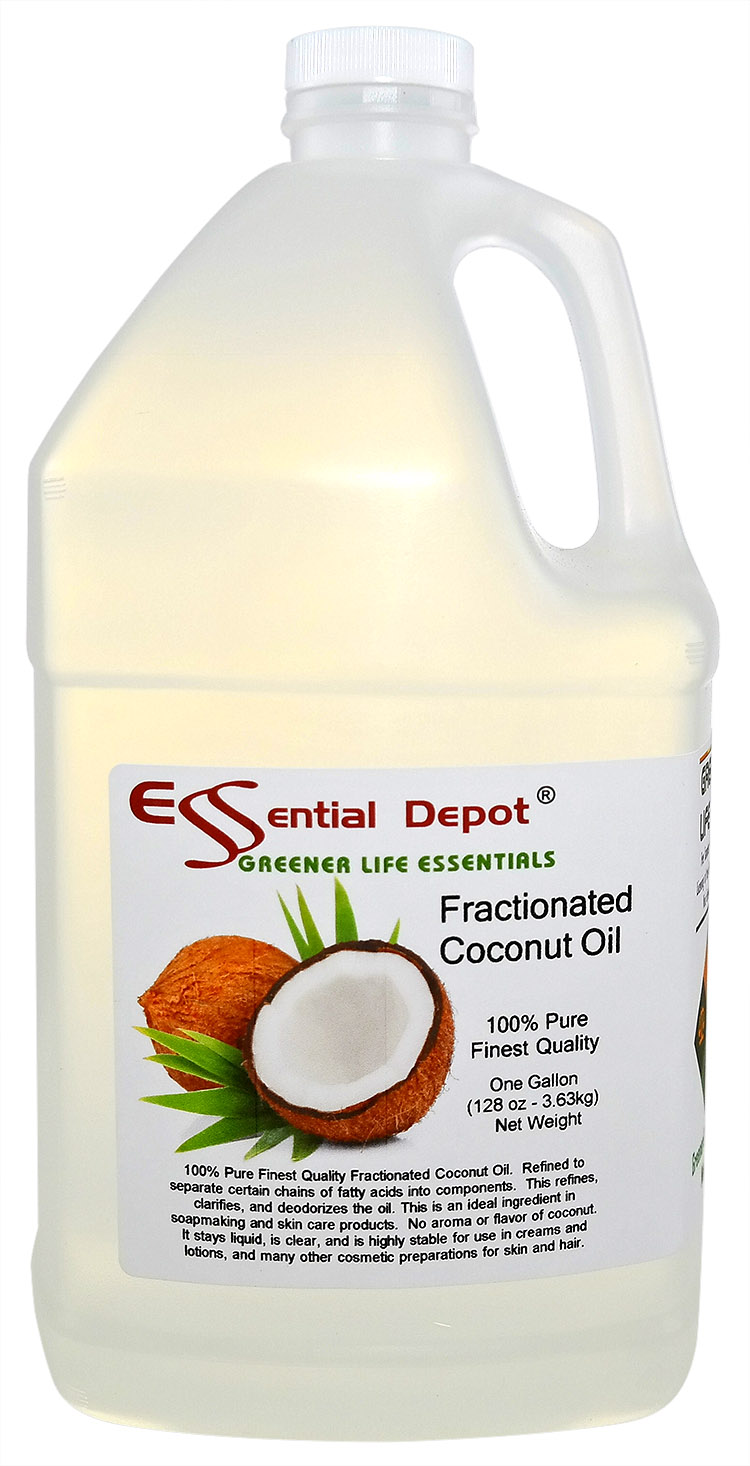 Coconut Oil (fractionated) - 1 Gallon - Finest Quality