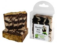 <p><strong>Chocolate Mint Twist - Handcrafted Soap From Sycamore Ridge Soap Company.</strong><br />Peppermint and cocoa combine for an aroma like that cookie we all love. Goats milk, palm, coconut, olive and castor oils, and an artistic swirl of cocoa make this bar as beautiful as it fragrant. Approx. 4.4 ounces.</p><p><strong>Chocolate Mint Twist </strong>is a handcrafted soap distributed by Essential Depot, Inc., through a pilot program to provide emerging soapmakers with training & marketing support. Featured soapmakers are profiled on <a