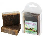 <p><strong>Black Russian Soap - Handcrafted Soap from Lakeside Fairies.</strong><br />Coffee, liqueur, and cocoa combine with olive, palm, coconut and castor oils, and a touch of shea butter in this fun cocktail themed bar. Approx. 4.5 ounces.</p><p><strong>Black Russian </strong>is a handcrafted soap distributed by Essential Depot, Inc., through a pilot program to provide emerging soapmakers with training & marketing support. Featured soapmakers are profiled on <a