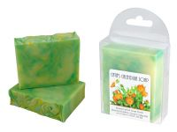 <p><strong>Catie's Calendula Soap - Handcrafted Soap from Bashful Bubbles Soap Company.</strong><br />An infusion of calendula petals in olive oil, with coconut, castor and jojoba oils, as well as illipe and kokum butters, make this superfatted soap an herbal delight. Approx. 4.25 ounces.</p><p><strong>Catie's Calendula Soap </strong>is a handcrafted soap distributed by Essential Depot, Inc., through a pilot program to provide emerging soapmakers with training & marketing support. Featured soapmakers are profiled on <a