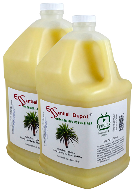Palm Oil - 2 Gallons - 2 x 1 Gallon Containers - FREE US SHIPPING