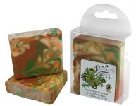 <p><strong>Indian Summer - Hand Crafted Soap From Bearchele Designs.</strong></p> <p>Perfectly named for it's beautiful swirls and orange cinnamon fragrance, this bar includes almond, coconut, olive and castor oils, along with tallow, coconut milk and natural colorant. Approx. 4.5 ounces. </p> <p><strong>Indian Summer</strong> is a handcrafted soap distributed by Essential Depot, Inc., through a pilot program to provide emerging soapmakers with training & marketing support. Featured soapmakers are profiled on <a