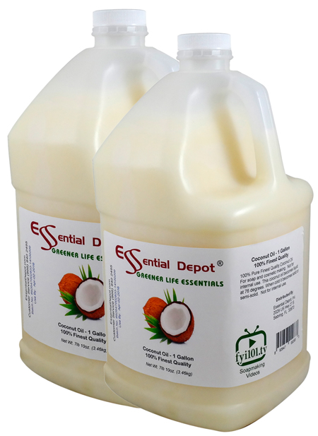 Coconut Oil - 2 Gallons - 2 x 1 Gallon Containers - FREE US SHIPPING