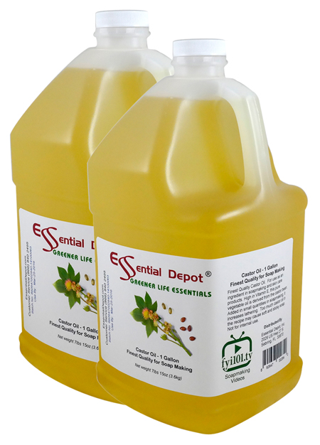 Castor Oil - 2 Gallons - 2 x 1 Gallon Containers - FREE US SHIPPING