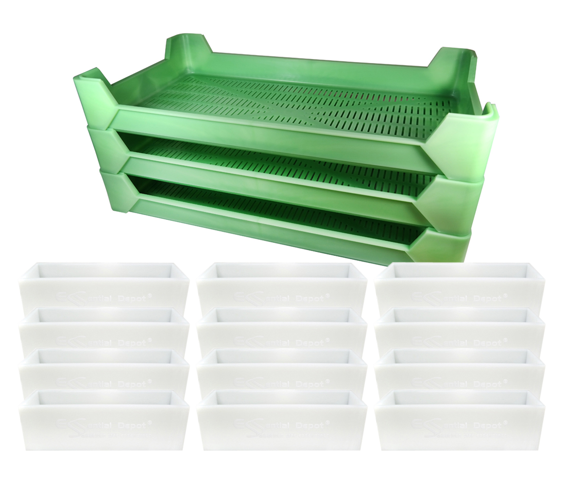 Pro Soapers Launch Kit 3 - 3 Drying Trays + 12 Natural Molds