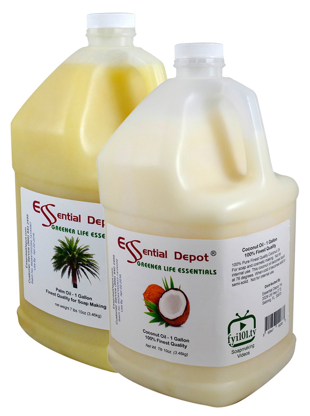 Coconut (1 Gallon) + Palm (1 Gallon) Combination Pack - FREE US SHIPPING